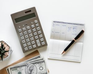 Calculator and checkbook image